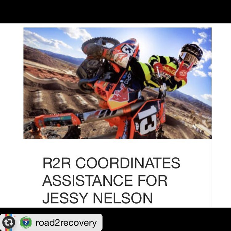"#Repos f/ @road2recovery: ""Team TLD/KTM rider @jessynelson13 suffered a crash in the second moto of the Pro Outdoor Motocross Nationals at Unadilla on 8/13/16. He is currently under medical care at a hospital in Cooperstown NY. #R2R has set up a..."