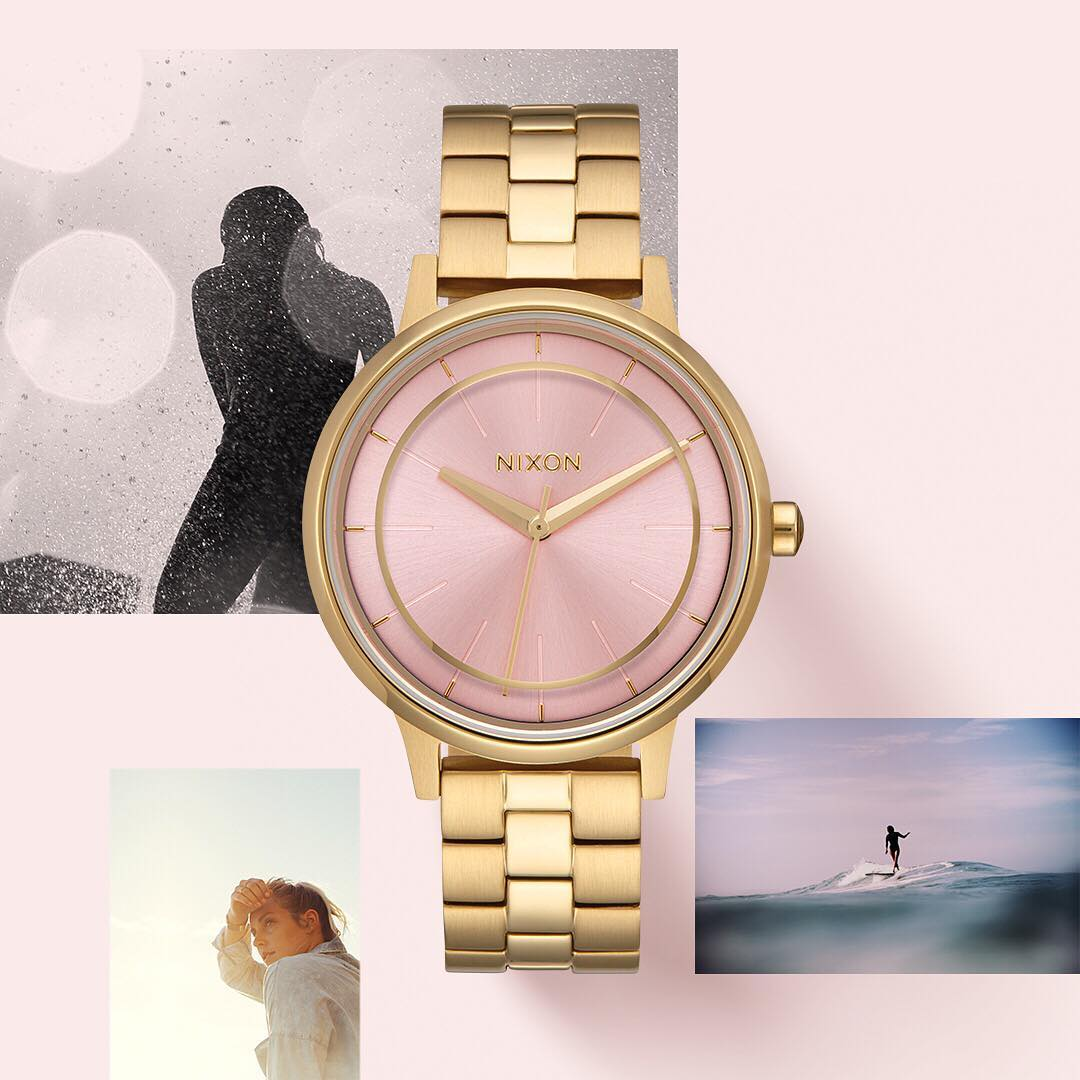 Perfect for beach days and gala nights. The #PinkDeco Collection, available now at Nixon.com #Kensington