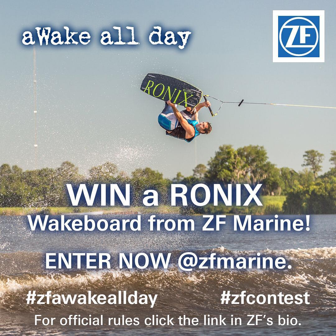 @zfmarine is giving away a 2016 One Board. Check the info in there bio to see how to win. Good Luck! #zfcontest #zfawakeallday #ronix2016 #oneloveinwake #fortifiedwithlakevibes #theonecollection