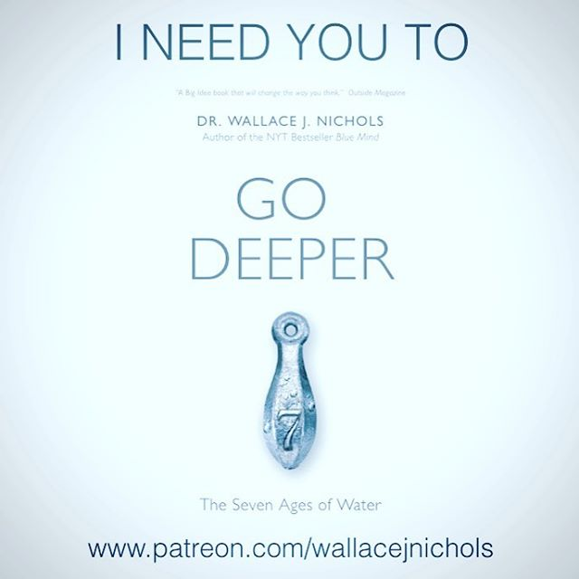 We are going DEEPER this whole week with our advisor (and cool human) @wallacejnichols , to help him kick off the creation of his new book #‎GoDeeper: The Seven Ages of Water – which is followup  to his previous #NYT Best Seller – #‎BlueMind • And we...