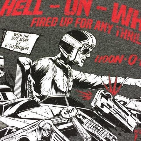 Our Art Director @jchase7452 designed the new Hell On Wheels tee (available now) based on inspiration from car movie posters from the 1950's through late 70's. Want to see more about the brains behind the art? Hit the link in our bio to peep Jon's blog...
