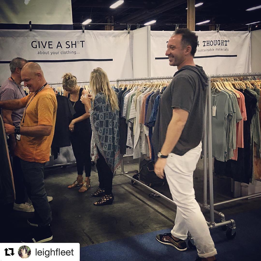 This Guy ... Giving a sh*t about how clothes are made for almost a decade now. #proudwifey #projectlv @erict4t @threads4thought ・・・ #Repost @leighfleet