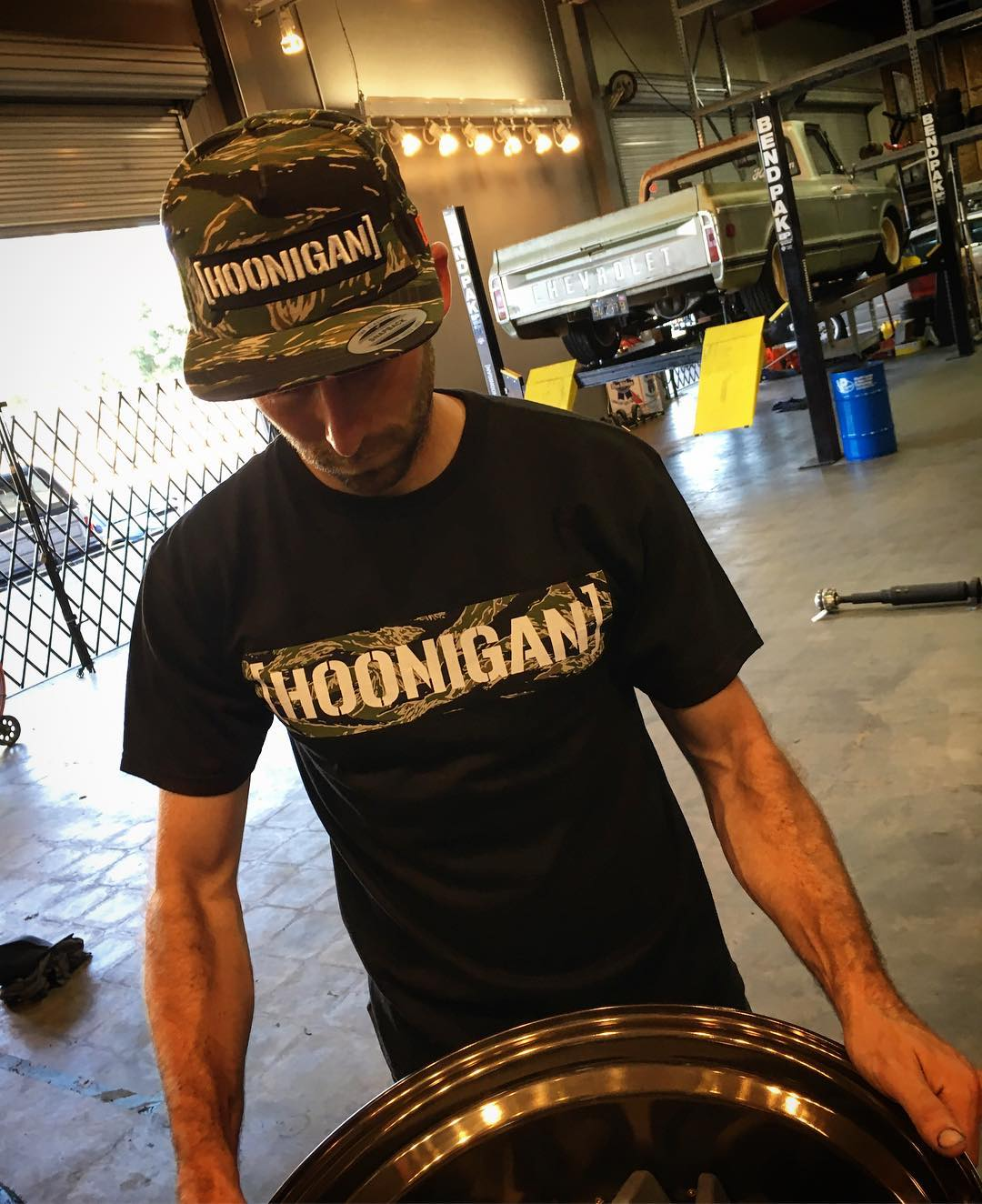 The Tiger Camo C Bar snapback and Tiger Uppercut C Bar tee available at #hooniganDOTcom