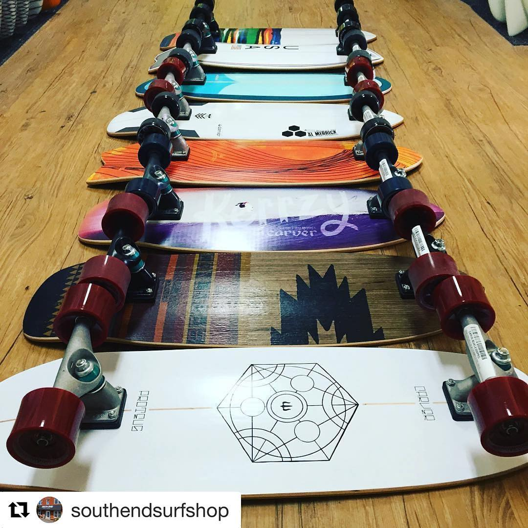 #Repost @southendsurfshop with @repostapp ・・・ Fresh new Carver Skateboards just arrived!!! Come snag one before we are sold out... @southendsurfshop @carver_skateboards #wbxnc