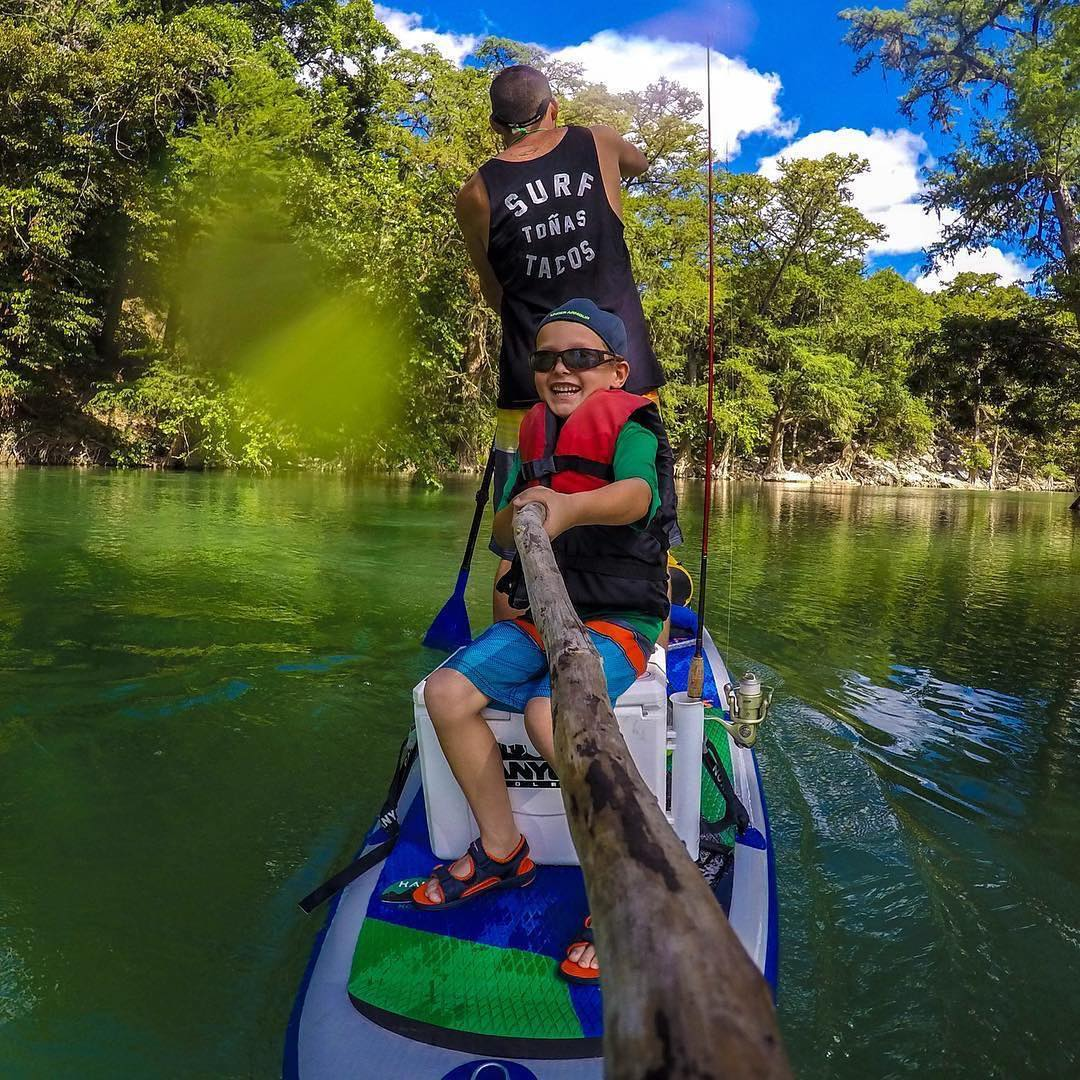 Team rider @saadventuresports out fishing with his son on the #HalaHoss. #halagear #adventuredesigned #paddlewithfriends #isup #inflatable #standuppaddle #paddleboarding #suplifestyle #adventurers #sup #supthemag #repostmysup #stand_up_paddle #paddle...