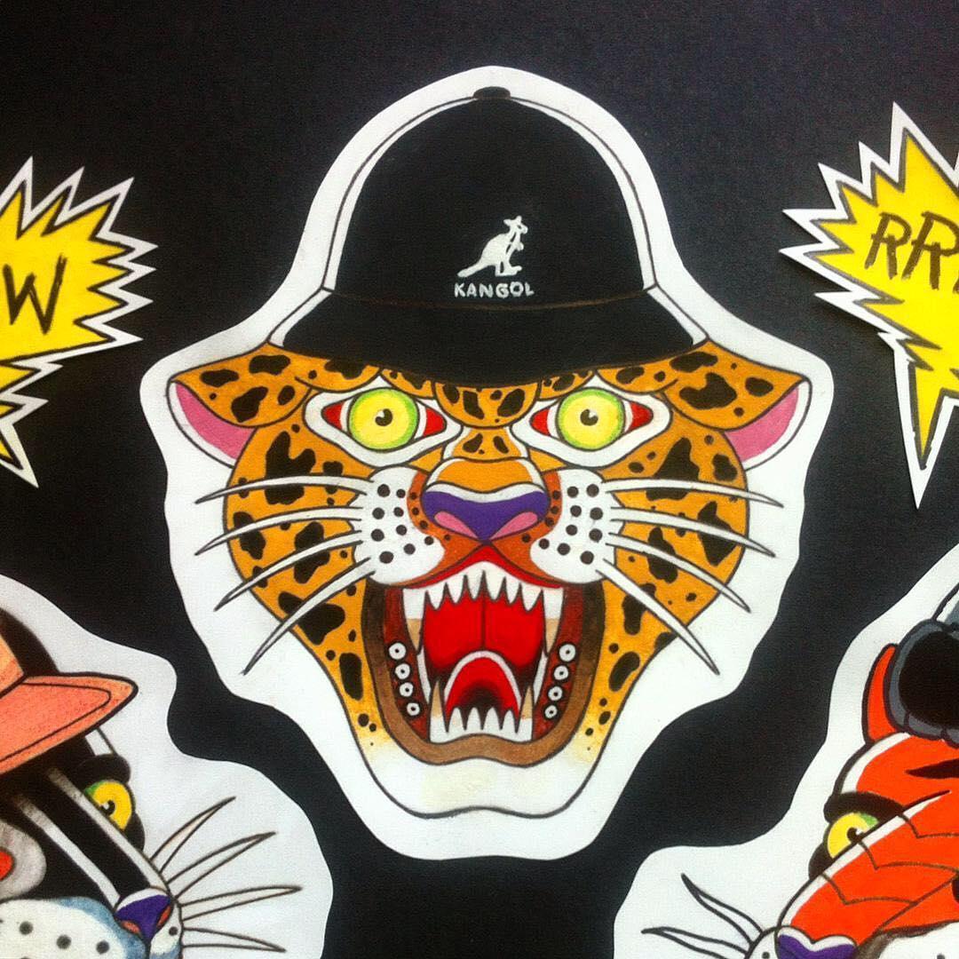 Traditional Tattoo Artwork #kangol via @tyoma_zomg