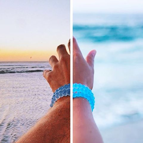 We're back and brighter! Last year (left), the Lokai community funded 33 wells with @charitywater. How many wells can we build together with the new Water Lokai (right)?!