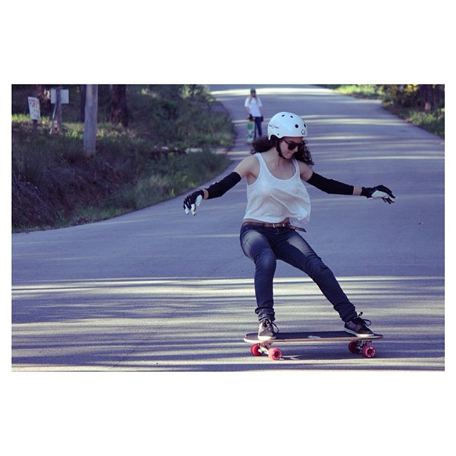 Our girl ❤️ @jennarus from #longboardgirlscrew #australia. Photo? We miss you #Kangarusso!