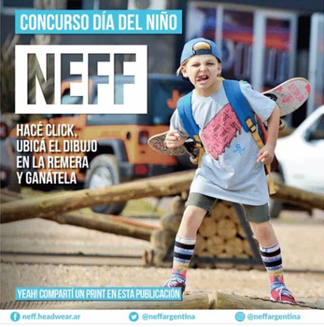 Divertite con NEFF en este concurso! Ingresá a facebook.com/neff.headwear.ar, seguí los pasos y participá por una remera para el día del niño! #NeffArgentina