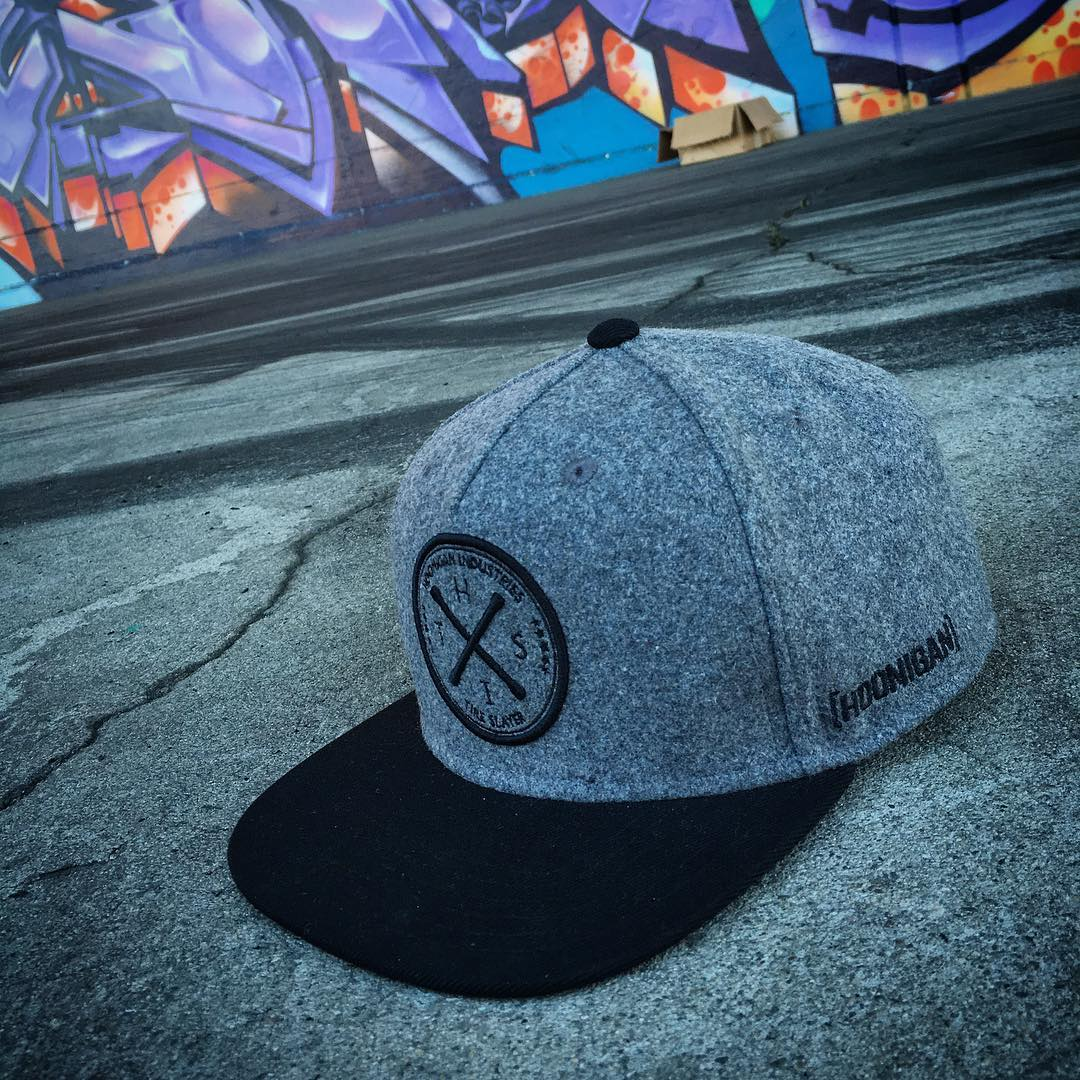 Snap up this brushed wool paneled HITS snapback at your local @lids4hats and #supporthooniganism.