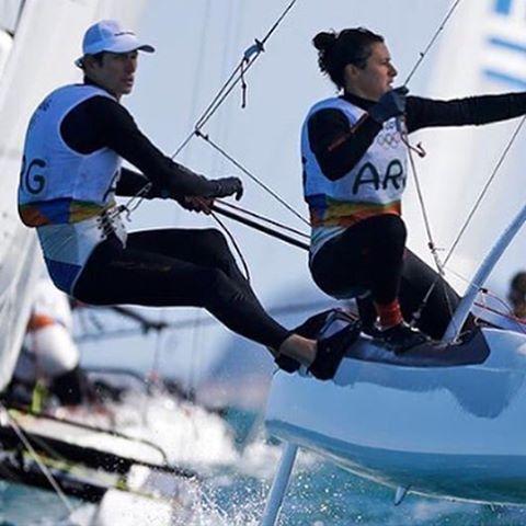 Lange + Carranza. Orgullo nacional | Oro en la categoría Nacra 17 mixto #rio2016 #watersports #sailing #actionsports #olimpiadas #nacra17