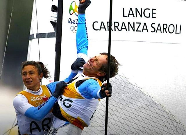 Gold medal for @teamlangesailing //Inspiring to see @santilange overcome a lung cancer, train hard and show the world that it is possible to achieve anything you want.