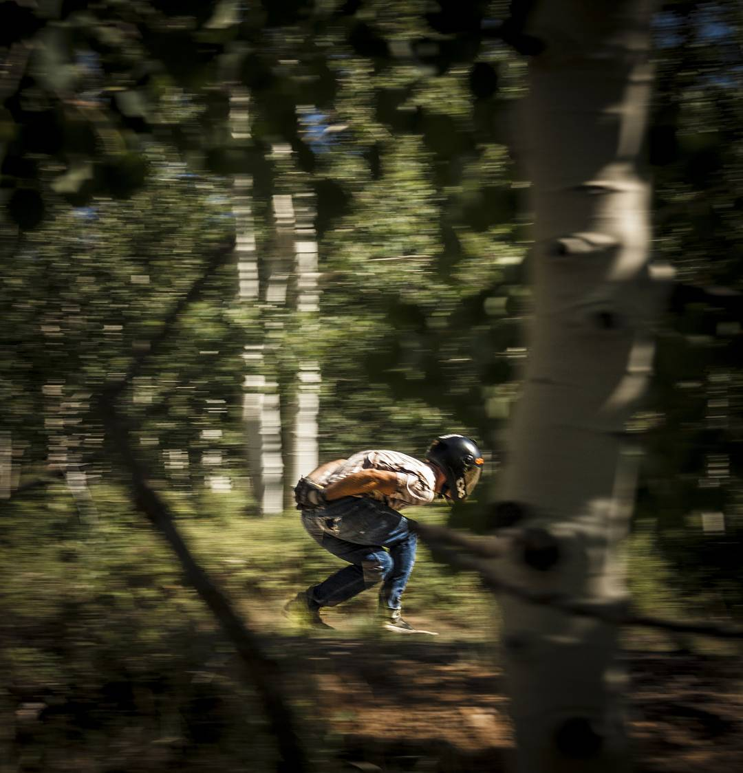 #LoadedAmbassador @rileywirvine Running through them trees like Snoop Dogg at Hempfest.  Photo: @avant_gnar  #LoadedBoards #Tesseract #Truncated #Orangatang