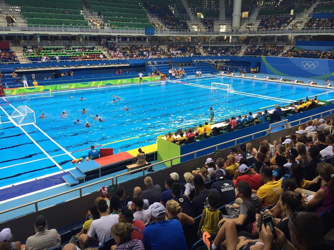 Un poco de waterpolo para combatir el calor #Rio2016 #Olympics