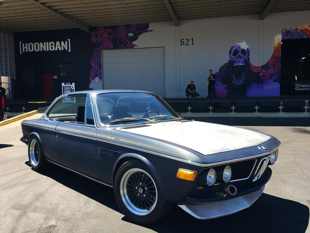 Our buddy @coupeking stopped by the #donutgarage to grab some gear before heading up to Monterey this weekend! He's bringing this original 3.0 CSL lovingly known at the #ratbastard. It came from the factory rhd but had been swapped over to lhd and...