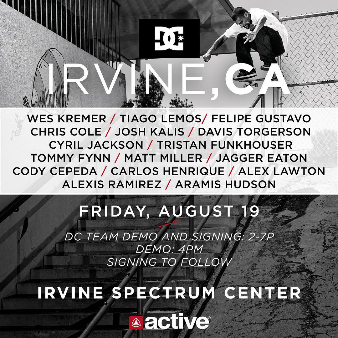 We've got a heavy crew rolling through the @activerideshop Irvine Spectrum this Friday in California! Come out and skate starting at 2pm, demo at 4pm, autographs afterwards. Don't miss out if you're in the area. It's going to be
