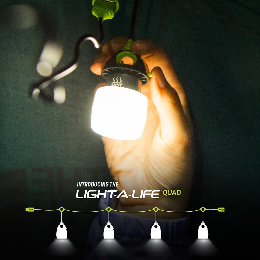 Meet the Light-A-Life Mini Quad. The same great 110 light as the original, now in a strand of four.