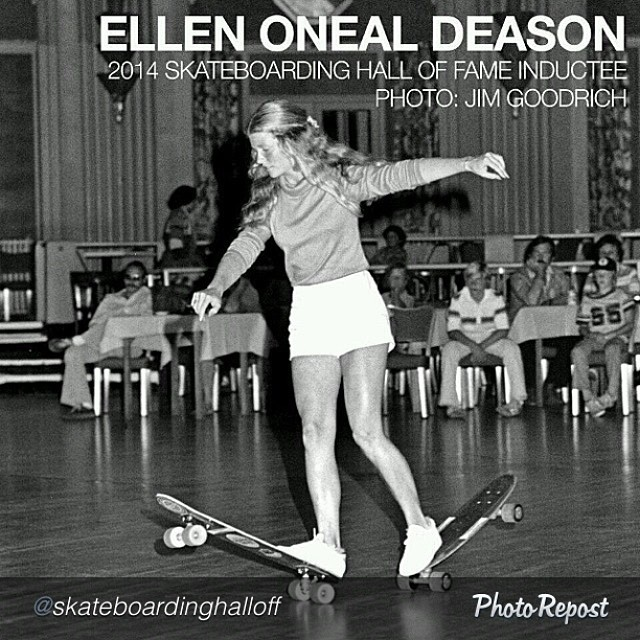 Ellen O'Neal is among a heavy group that will be inducted into the @skateboardinghalloffame next week. #skateboardinghalloffame #ellenonealdeason #skate #skateboarding #skateboard #skatelife #pioneer #legend #og #trailblazer #girlswhoskate...