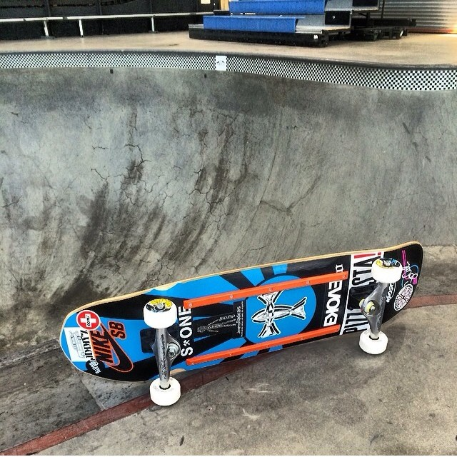 Regram @eddieelguera 's #skateboard for the #vans #combi #contest next week. @socalskateshop
