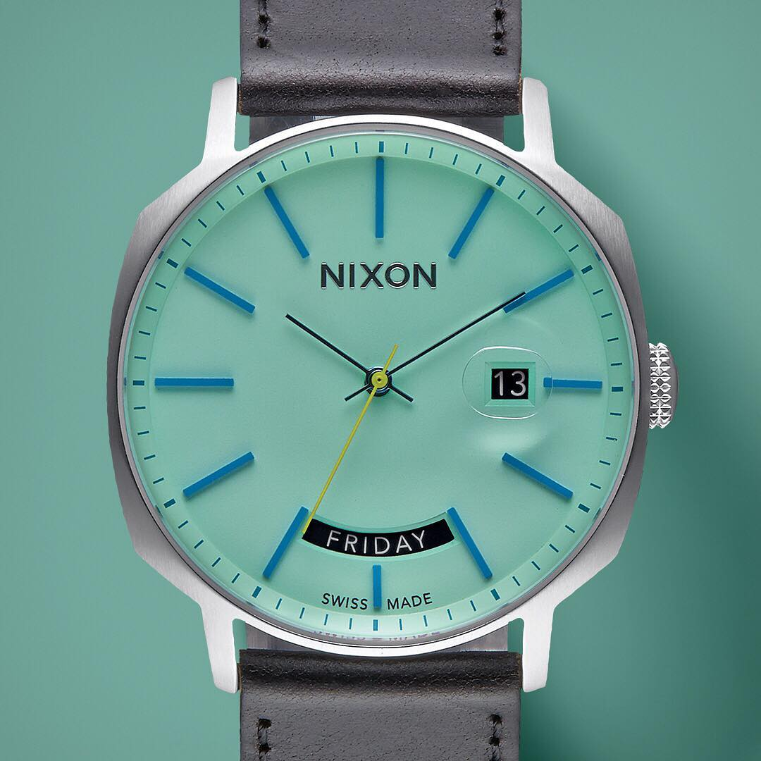 Radically refined. Swiss made automatic movement with a teal exterior that glows with understated cool. Hello #Regent.