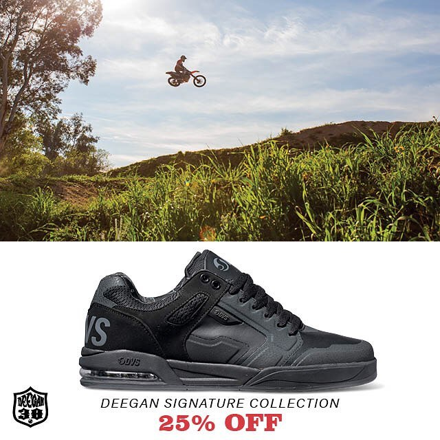 The new #DVSendurox in my signature colorway is now available on the @dvsshoes site. For a limited time we're hooking them up for 25% off - use promo code DEEGAN. Click my link in bio to check them out. #ALLINGOODFUN