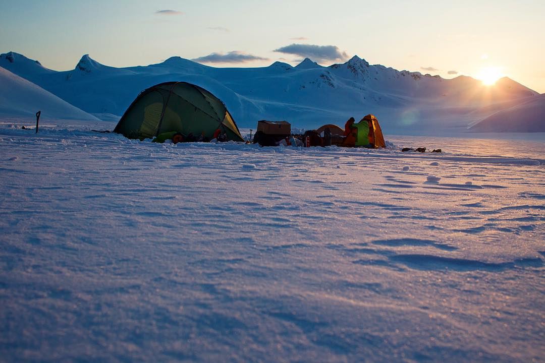 Forrest Shearer and Stephan Drake make camp deep in the Chilkats. Photo: @oskar_enander