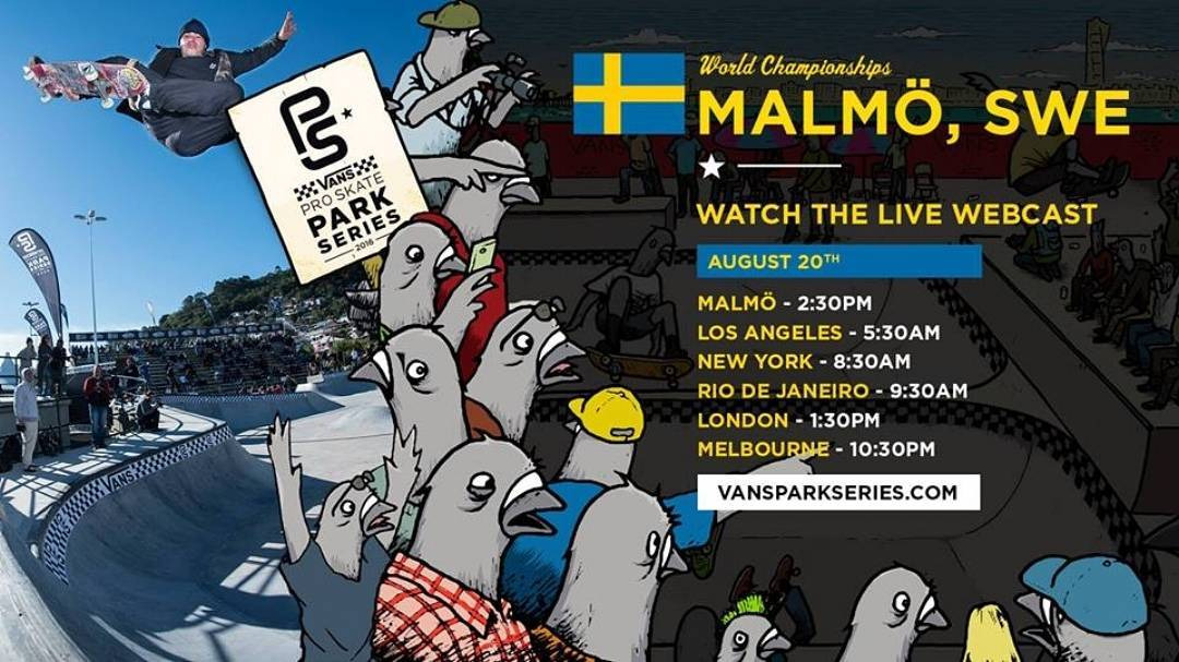 This Saturday the @vansparkseries World Championships will be going off in Malmö, Sweden! With a sick new park designed by @bryggeriet_skate_org and @dreamlandskateparks you are not going to want to miss the Women's Finals! Watch @lizziearmanto...