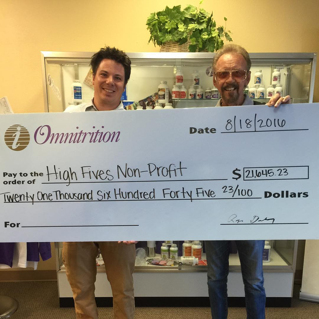 Over the past two years, @omnitrition has donated over $50,000 to athletes in need, please give them a HIGH FIVE