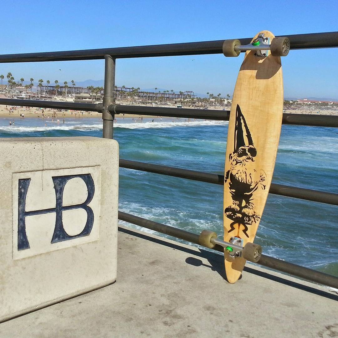 #tbt to the gnome skating through Huntington Beach #gnome