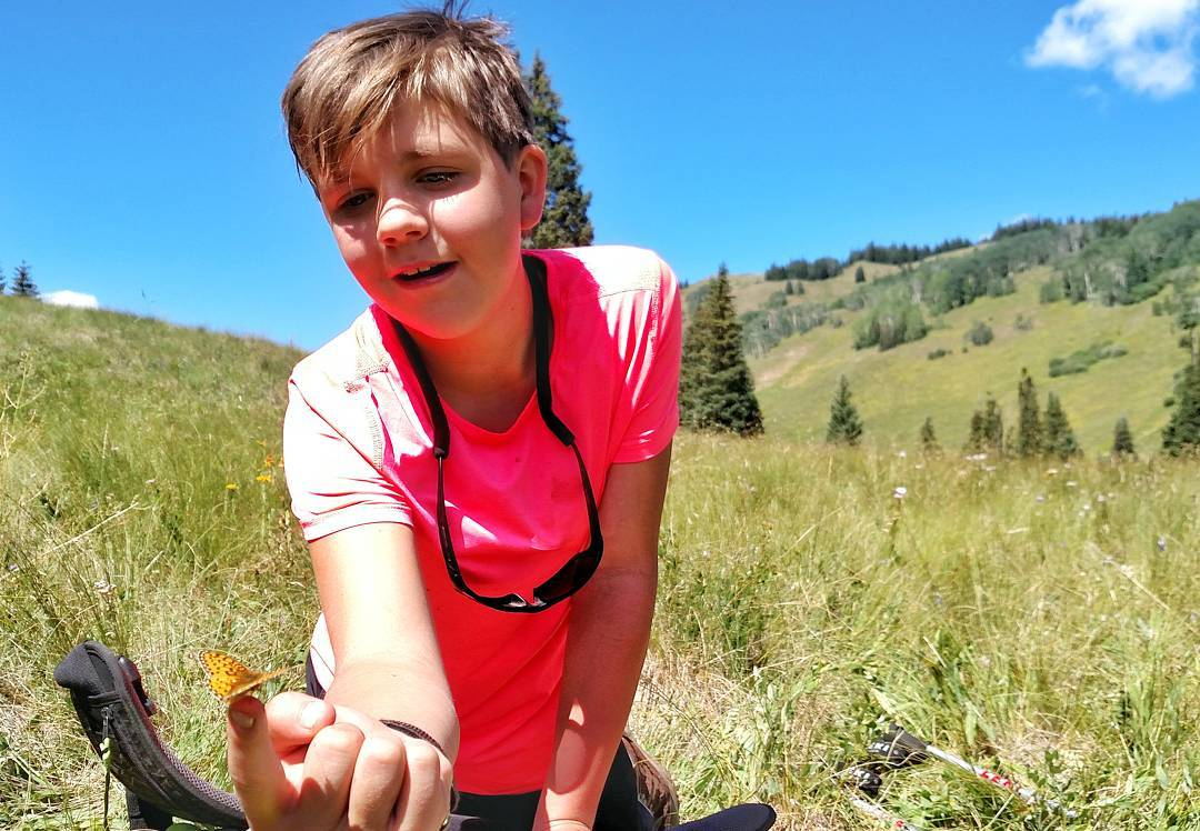 #Butterfly breaks are necessary on long treks! This photo was taken from our Durango sites first #summer #backpacking trip