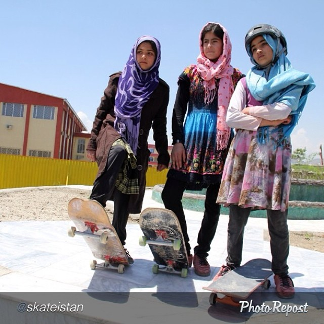 "by @skateistan ""40% of #afghanistan's skaters are female. 100% of those are tough as nails. #spreadtheshred"" #skate #skateboarding #skatelife #oneworld"