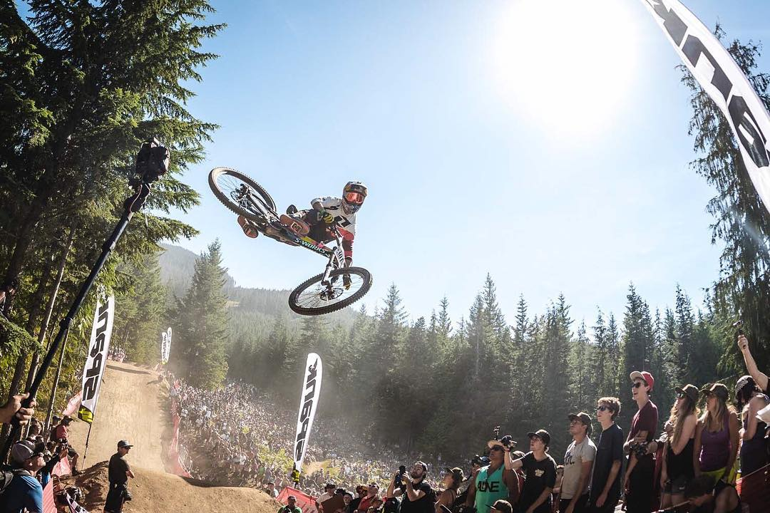 Hell yeah! Congrats to @finniles for taking the #Crankworx #Whistler #WhipOff Win! Yeah buddy! #SixSixOne #661Protection #ProtectFun #RageKnee Photo @davetrumporephoto Check out our current @crankworx gallery > www.sixsixone.com