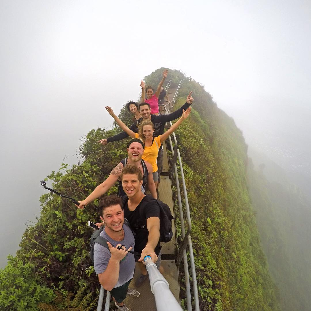 Grab your friends and celebrate World Photo Day! Photo by Mart van de Gevel. Shot with GoPro HERO4 & GoPole Reach. #gopro #gopole #gopolereach #worldphotoday #hiking  #hawaii