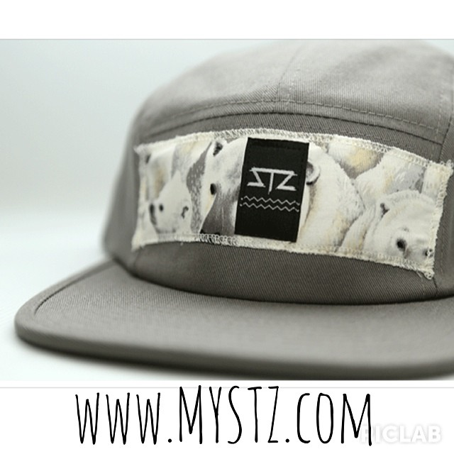 NEW 5-panel campers now available online! // www.mystz.com // all orders come with free stickers. #stzlife #5panel #professionaloutsider #happyshredding #therightcoast #polarbear