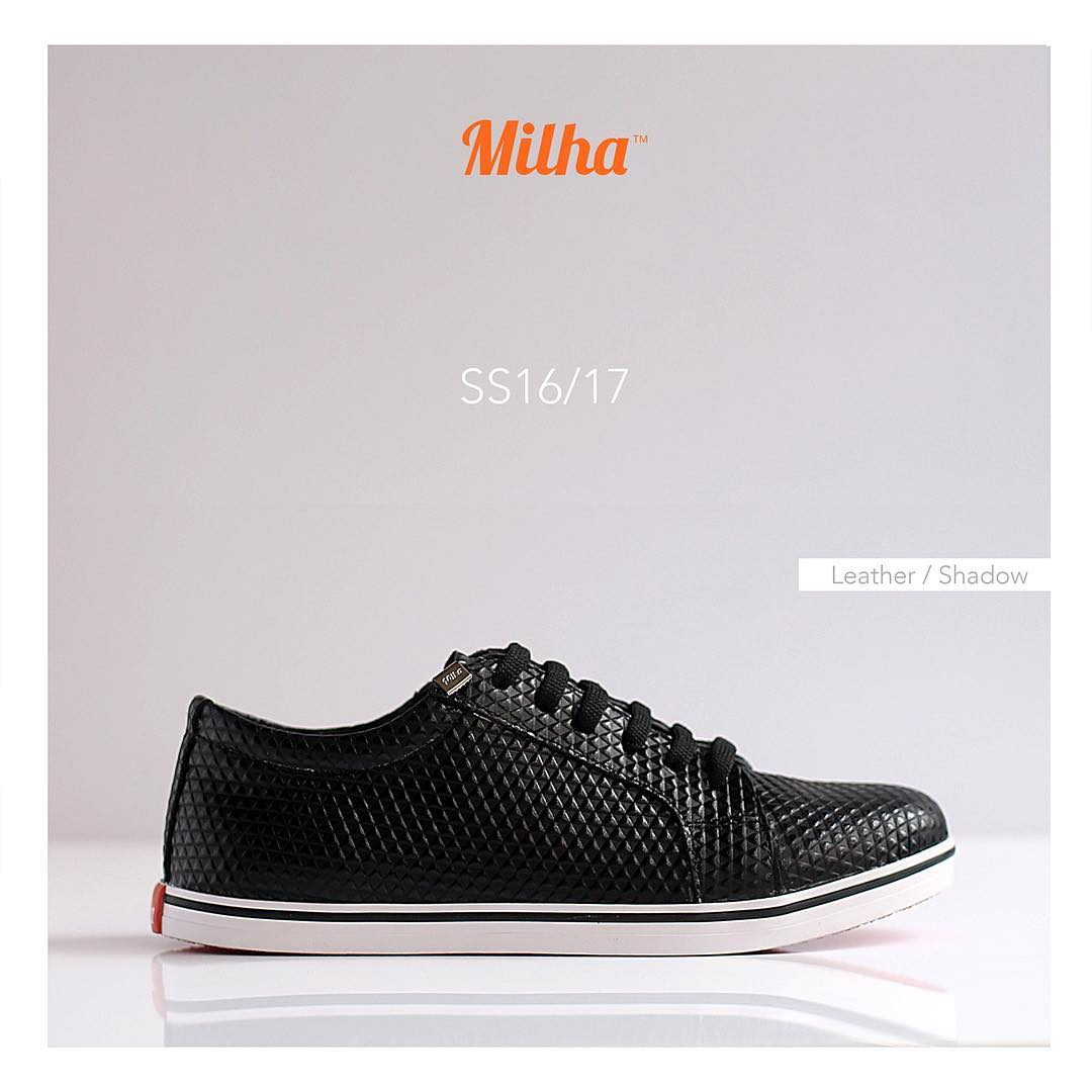 Milha™ Shadow: 100% Cuero grabado. www.milha.com.ar #zapatillas #milhasoho #milha #shadow #leather
