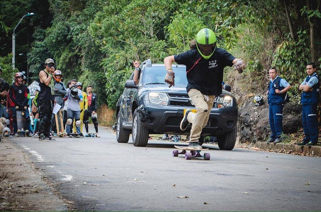 Where are you pushing this weekend? @sho_ouellette is in Colombia making his rounds one kick at a time.