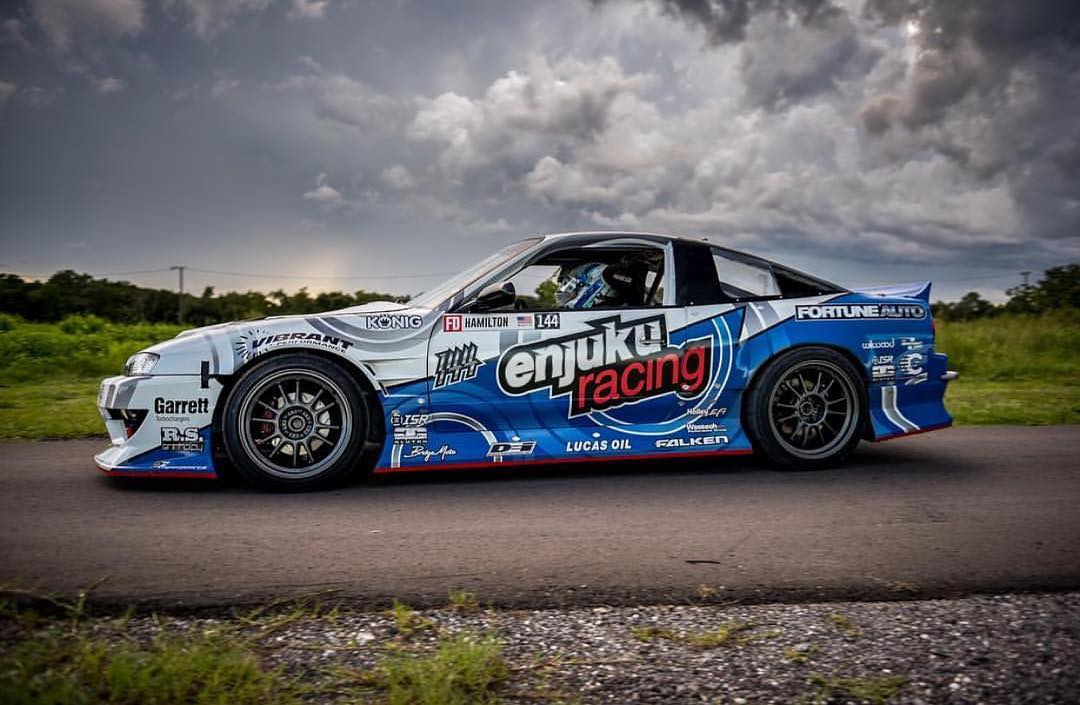S14 fronted s13 hatch powered by a single-turbo LS! Hit the link in our bio to see @natehamilton144's build series! #stopthehategetaturbov8