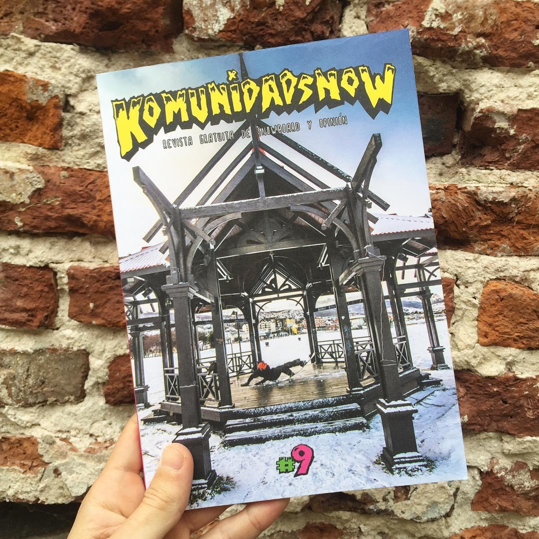Felicitaciones a @komunidadsnow por su novena edición y a @the_popular_loner por su primera tapa en esta revista fundamental para el snowboard argentino