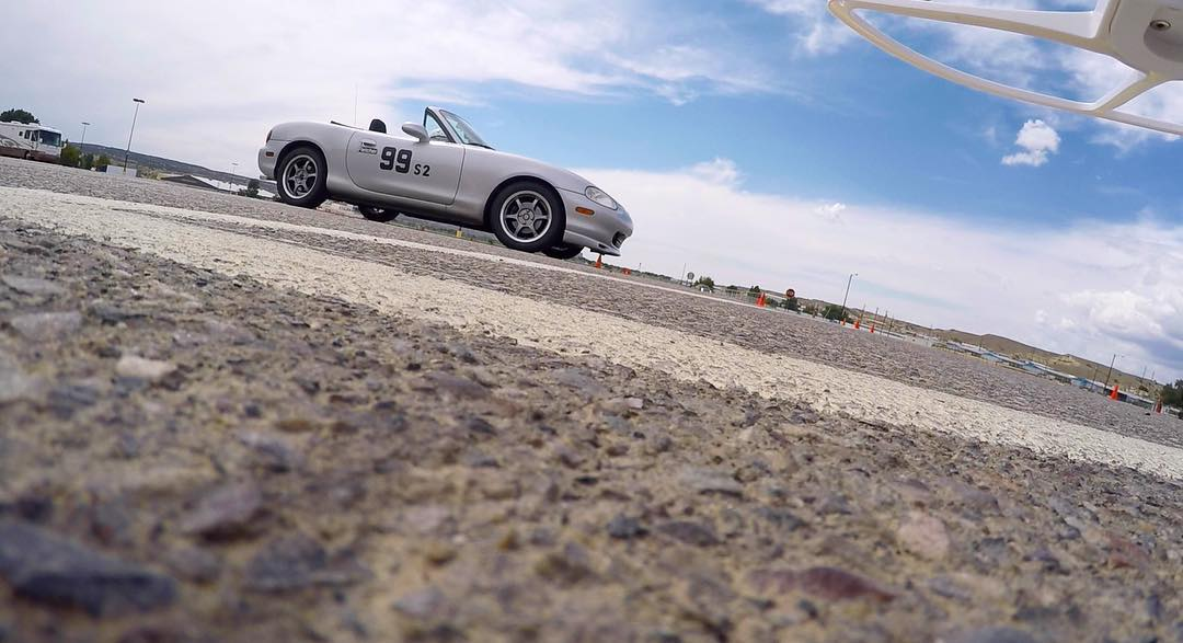Screenshot from the GoPro on my drone before take off. Filming Marchell Fletcher get ready for her solo race in New Mexico with Nationals just around the corner. #extremeracing #filmshoot #passion #race #racecar #womeninsports #dji #djiphantom #drone...