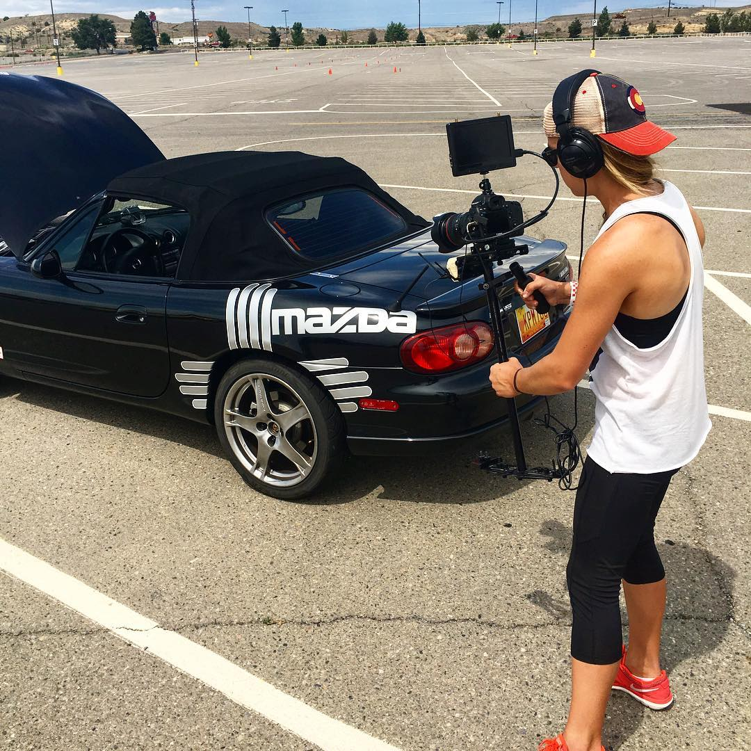 Filming one of the best women racecar drivers for the docuseries Women in Sports this weekend in New Mexico. Heavy set-up on my glidecam with @shantelrizzotto @seanmoebeal  #racecar #race #driver #solorace #soloracer #womeninsports #whatittakes...