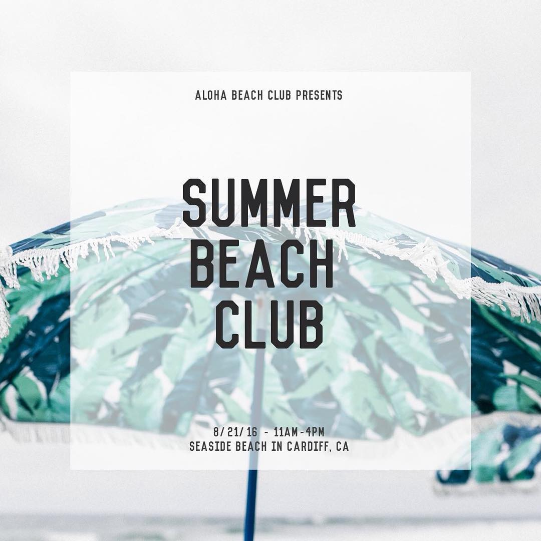 ~ Tribe Gathering ~  Tomorrow we'll be hanging with our friends @alohabeachclub for Summer Beach Club.  Come cruise with us at Seaside Reef from 11-4pm. There will be plenty of drinks, snacks, and boards to ride. Should be some fun waves for us. Look...