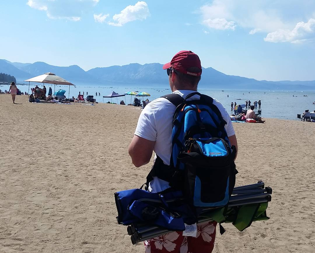 Getting out to the beach this afternoon with the Cascade backpack & cooler! Thanks Ryan!  #beach #getoutside #laketahoe #tahoesouth #tahoesnaps #xplorewild #backpacks #coolers #graniterocx #outdoorsrocx