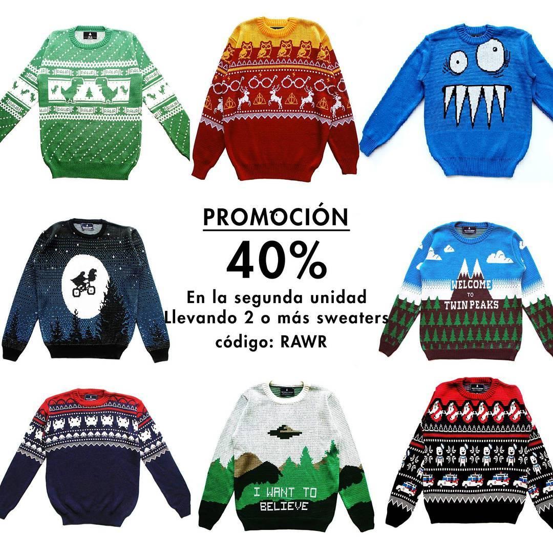 40% OFF EN EL SEGUNDO SWEATER  Llevando 2 sweaters con el código RAWR ➡️ Thisisfeliznavidad.com