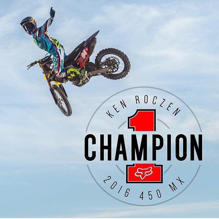 Felicitaciones al campeón 450 @promotocross. @kenroczen94 obtuvo un 1-1 en Budds Creek  #foxracing #foxheadargentina #mx #450 #liveforit