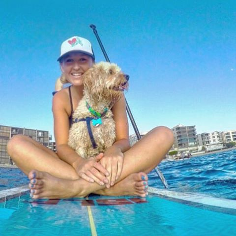 Saturday's in San Diego! #luvsurf #truckerhat #puppy #sup #missionbay