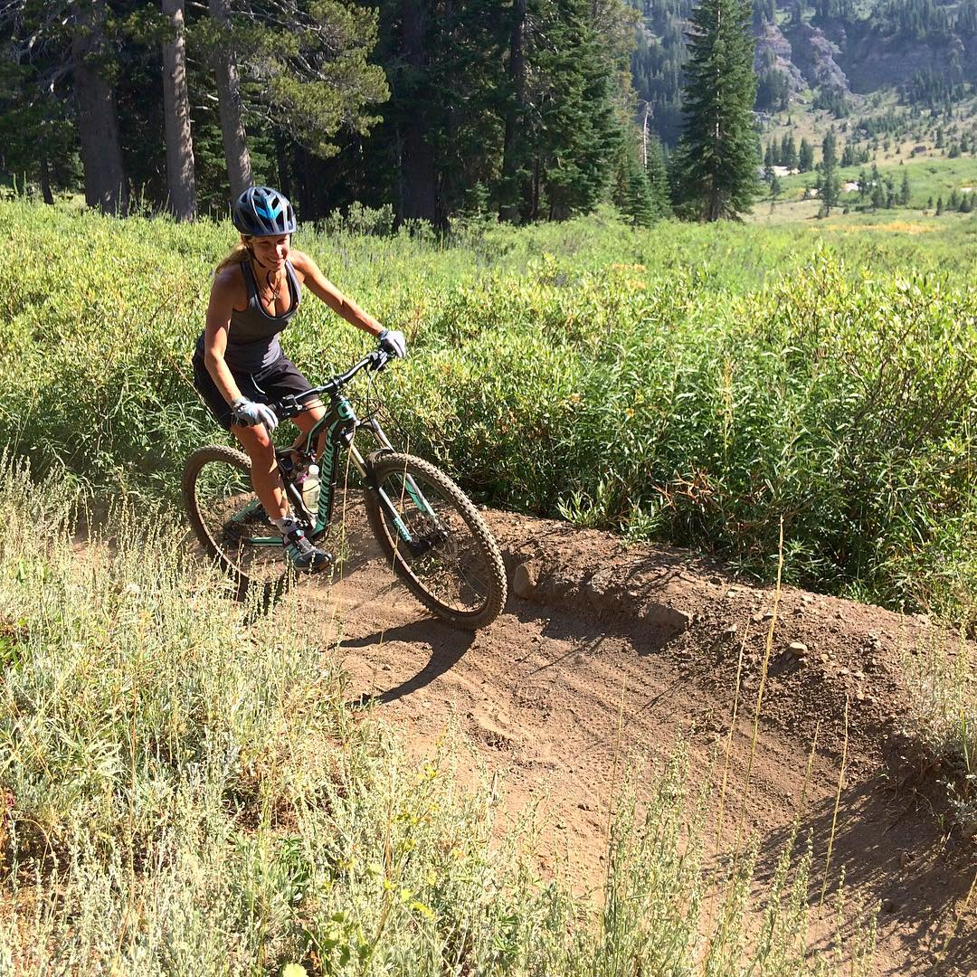 Taking my mountain biking progression one turn at a time #mountainbiking #kirkwood #outessakirkwood #sweatydirtyhappy