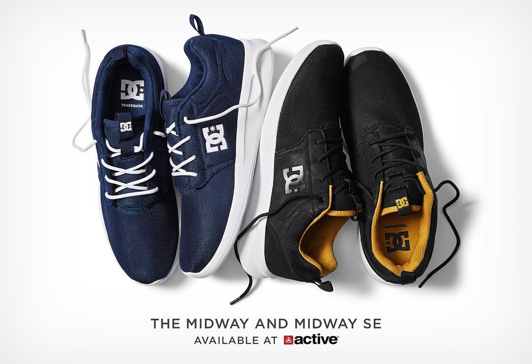 Offering ultimate comfort for when you're off the board, the Midway and Midway SE are now available instore at @activerideshop in the US. #dcshoes