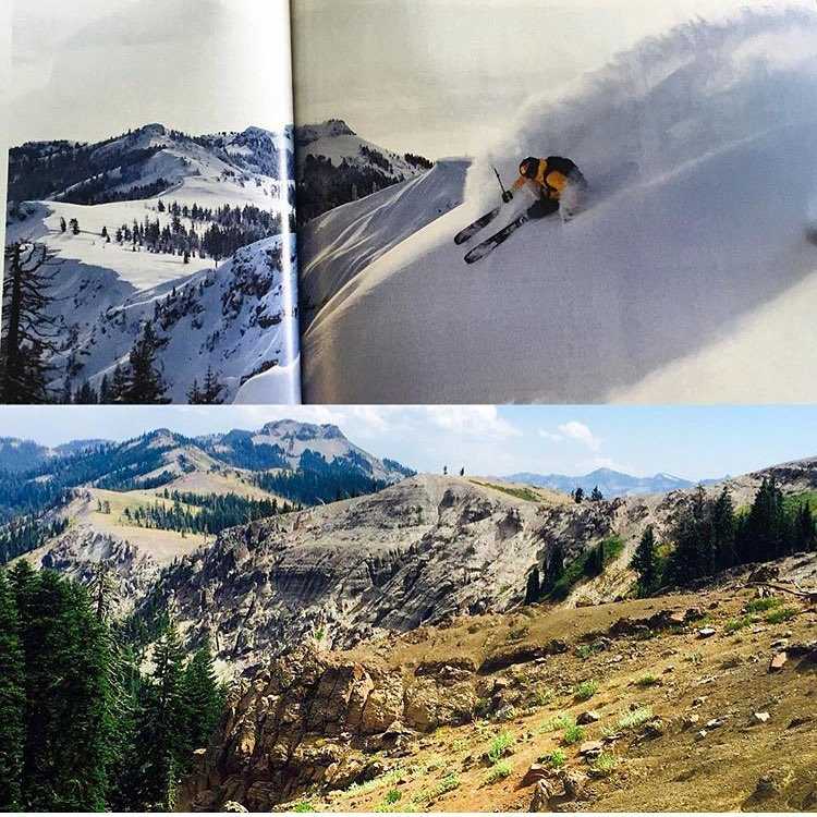 @flylowgear skier @daronrahlves is featured showing off his home town hill @sugarbowlresort in the September issue of @powdermagazine  #embracethestorm | #flylowgear