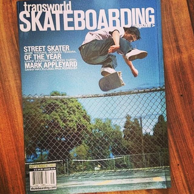 #TBT @mark_appleyard 's Street Skater of the Year cover of @transworldskate Straight heelflips are proper.