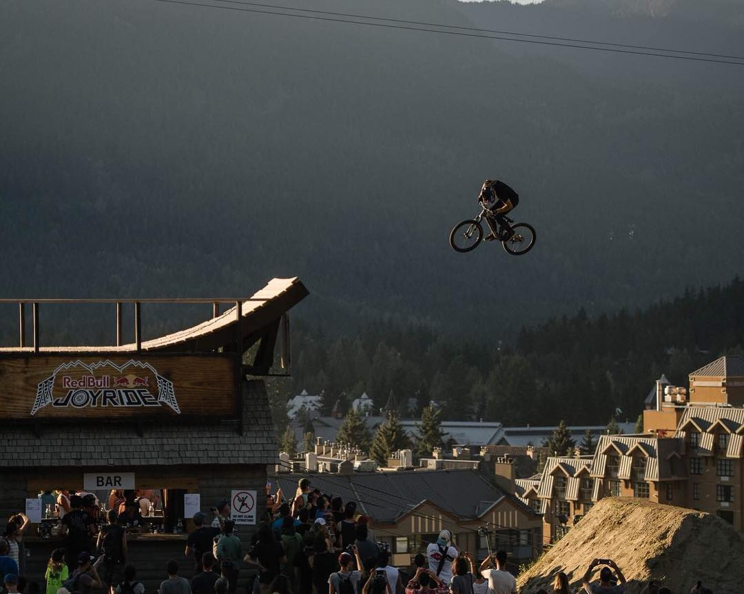 Brandon Semenuk gets in a final training session before #crankworx kicks off today at 10:30am. #permissiontoplay